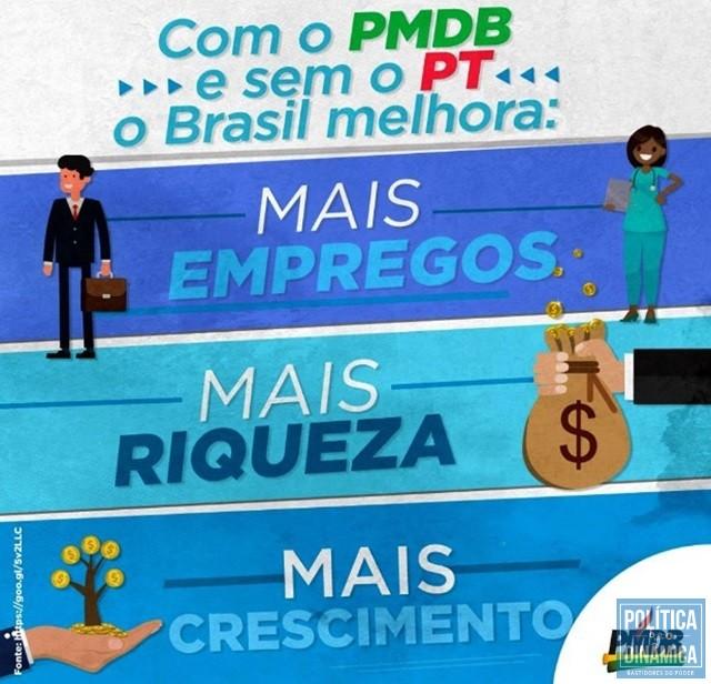 Imagem postada na página oficial do PMDB (Foto: Reprodução/Facebook)