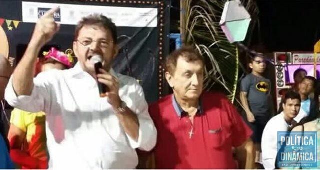 Ex-governador discursou após homenagem em Parnaíba (Foto: Reprodução/Instagram)