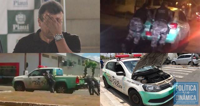 As imagens que ninguém esquece de viaturas sucateadas e falta de combustível vão ficar associadas apenas à gestão de Fábio Abreu (fotos: Redes sociais | Jailson Soares | PoliticaDinamica.com)