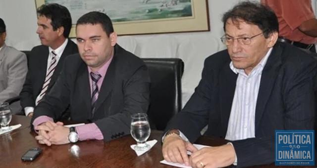 Da esquerda para a direita: delegado Paulo Nogueira, delegado-geral James Guerra e secretário de Segurança Raimundo Leite; essa era a cúpula da Polícia Civil em 2011 (foto: Efrem Ribeiro)