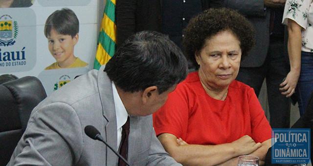 Wellington Dias já teria comunicado a Regina Sousa que ela não vai além do mandato tampão de 9 meses; segundo Ciro Nogueira, candidata honesta não se cria no PT (foto: Jailson Soares   PoliticaDinamica)