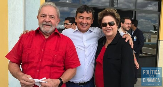 Lula e Dias na PB para inauguração popular da transposição (Foto: Reprodução/Internet)