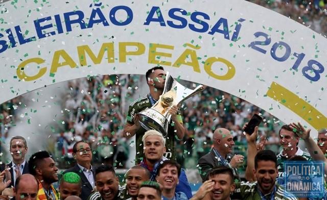 ee1558964 Palmeiras amplia vantagem como maior campeão nacional (Foto  Paulo  Whitaker Reuters)