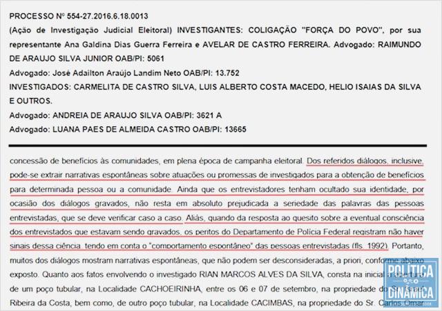 Polícia Federal periciou gravações do processo (Foto: Reprodução/Decisão13ªZona)