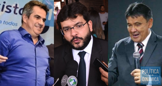 Ministro Ciro Nogueira, secretário Rafael Fonteles e o governador Wellington Dias.