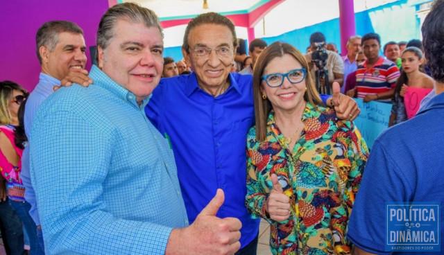 Sarney Filho e Edson Lobão (foram derrotados para o Senado) e Roseana Sarney (perdeu para o governo) em 2018. (foto: Atual7)