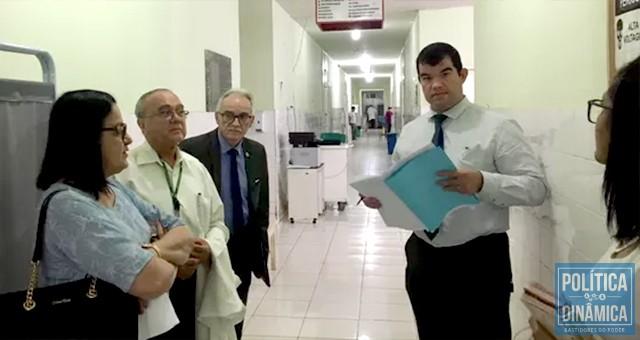 MPE e CRM foram a Campo Maior e o que eles constataram foi o caos no hospital e uma grande mentira contada por Florentino Neto nas tvs (foto: Ascom CRM)