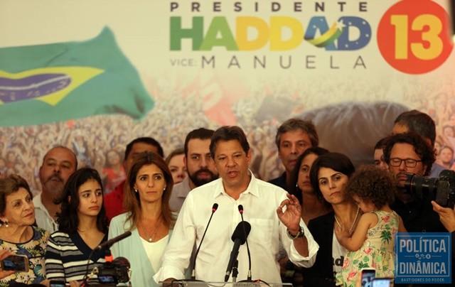 newest collection 02112 2a6dd Haddad disse que coloca vida à disposição do país (Foto  JF Diorio Estadão