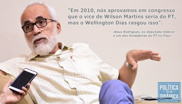 Ele saiu do PT porque não aceitou mudança de postura ética adota pela cúpula do partido (Foto: Jailson Soares/PoliticaDinamica.com)