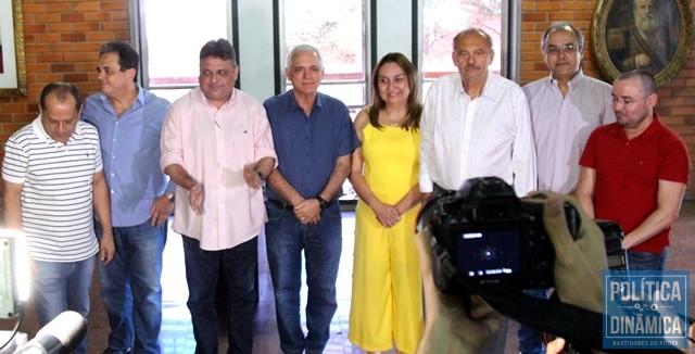 03df4ce1e4d832 Todos unidos e amigos em prol de Themístocles (Foto: Jailson  Soares/PoliticaDinamica)