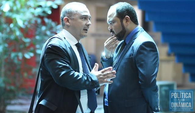 O promotor Rômulo Cordão, do Gaeco, e o procurador da República Marco Aurélio Adão (Foto: Jailson Soares/PoliticaDinamica.com)