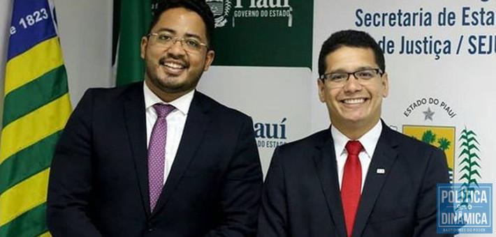 Carlos Edilson e Daniel Oliveira: na época, o primeiro era o subsecretário do segundo na Justiça (foto: Instagram)