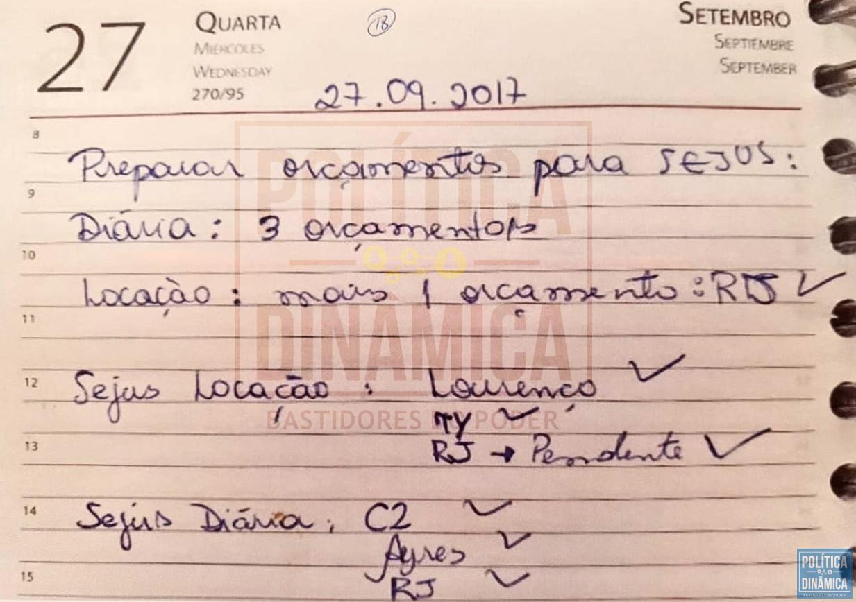 Topique: esta é uma das muitas anotações encontradas pela PF durante os mandados de busca e apreensão (foto: PoliticaDinamica.com))