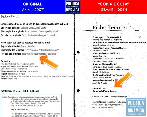 A publicação da M&B omite os créditos originais e traz o nome de Viviane Moura como coordenadora de todo o trabalho (imagem: PoliticaDinamica.com)